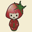 Strawberry Kokeshi Doll