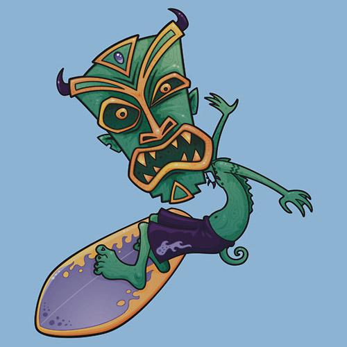 Tiki Surfer Dude