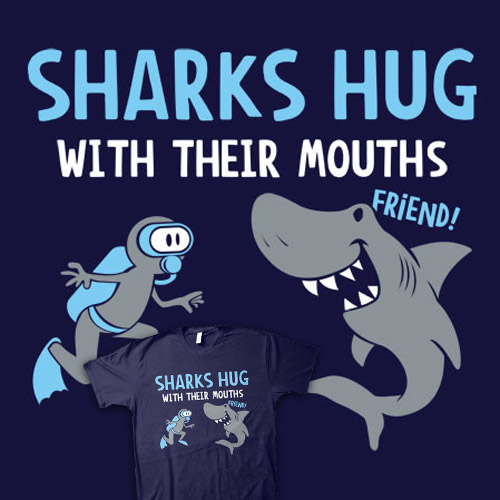 Sharks Hug With Their Mouths