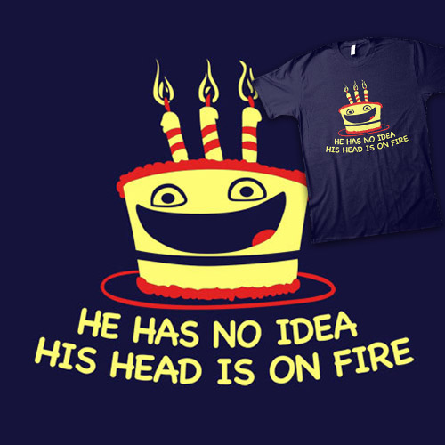 He Has No Idea His Head Is On Fire