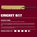 Zombie Weapons: Cricket Bat