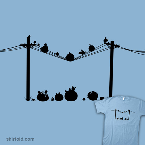 Birds On a Wire Silhouette