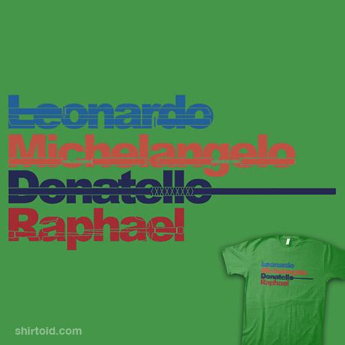 Leonardo, Michelangelo, Donatello, Raphael
