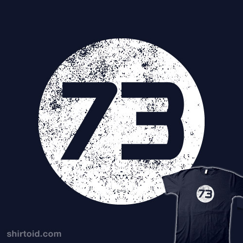 73 >> Sheldon Cooper S 73 Shirt Shirtoid