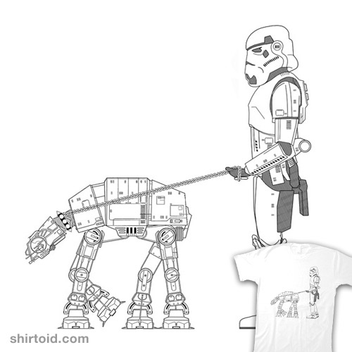 http://shirtoid.com/wp-content/uploads/2012/01/at-at-dog-walking.jpg