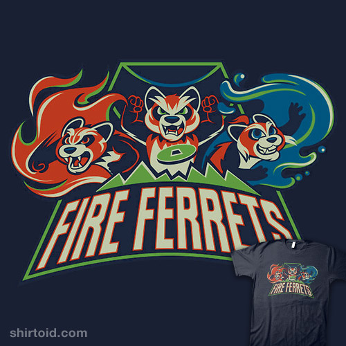 how to draw a fire ferrets