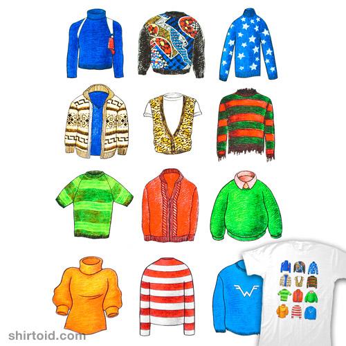 Twelve Famous Sweaters