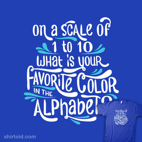 Favorite Color In The Alphabet