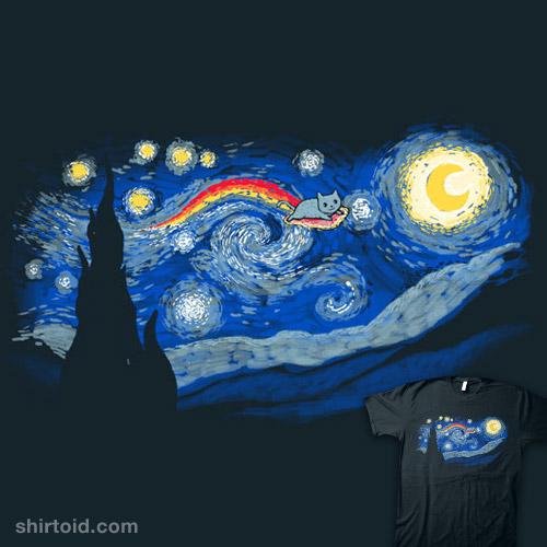 across the starry night shirtoid