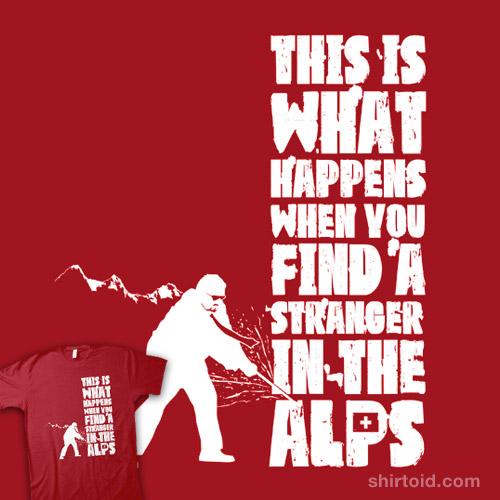 meet a stranger in the alps