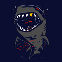 Shark with Pixelated Teeth