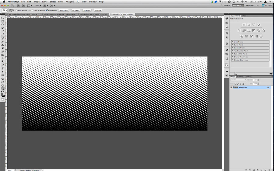 Halftone Lines in Photoshop