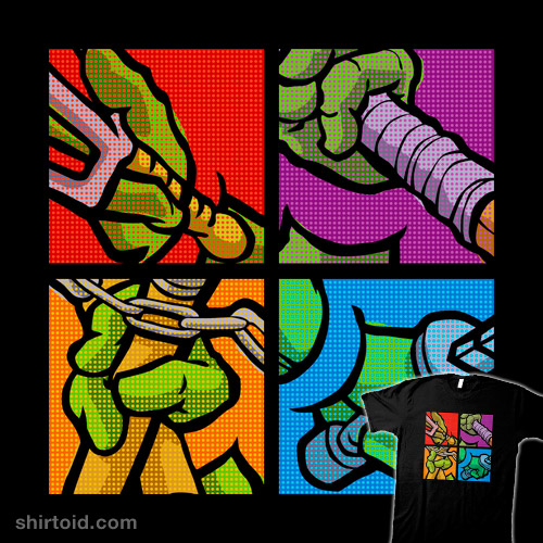 Lichtenstein Pop Martial Art Chelonians Set