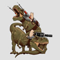 Cats Riding T-Rexs!
