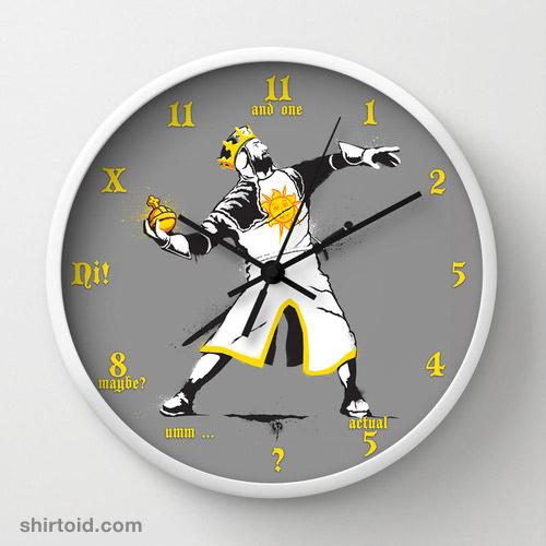 Banksy Python 1-2-5 Clock