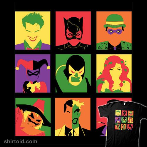 Batvillain Team Pop Art