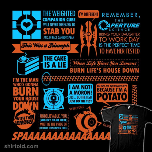 Portal Quotes Shirtoid