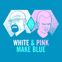 White & Pink Make Blue
