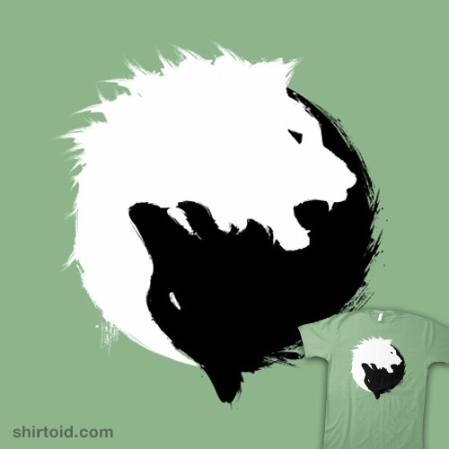Abstract Lion With Yin Yang: The Wolf And The Lion