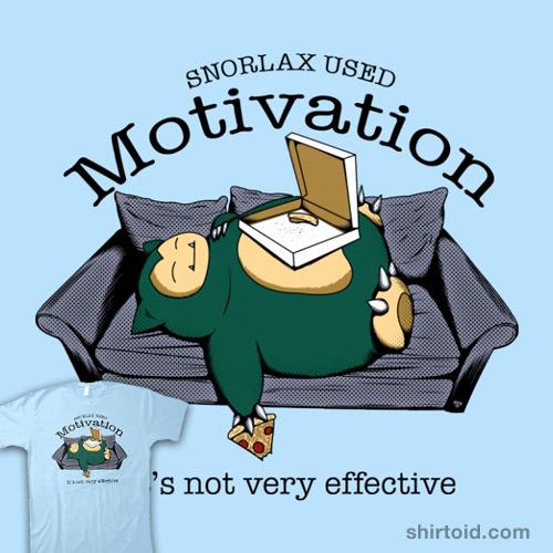 Snorlax Used Motivation Shirtoid