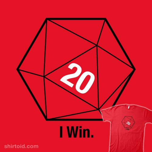 Sheldon's Red D20 Shirt