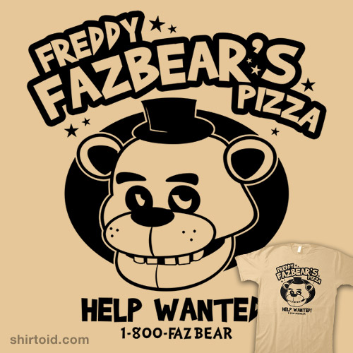 Freddy Fazbear's Pizza | Shirtoid