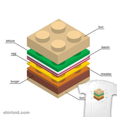 LEGO Burger | Shirtoid