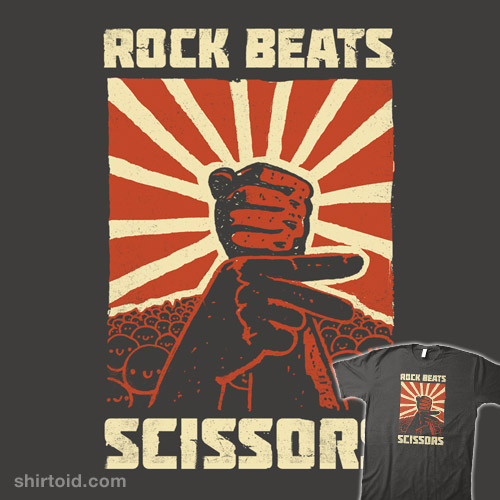 Rock beat scissors