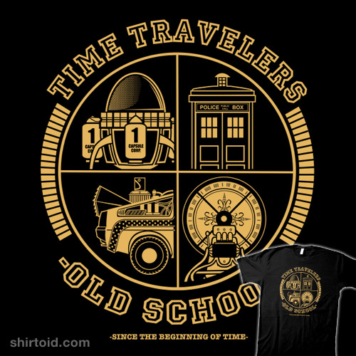 Image of: Three Old Time Travelers Old School Shirtoid Time Travelers Old School Shirtoid