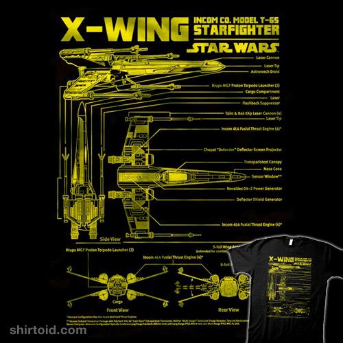 x-wing schematics | shirtoid,