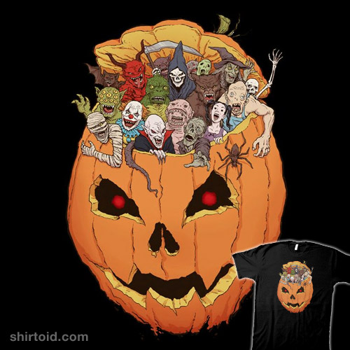 Halloween Monsters | Shirtoid