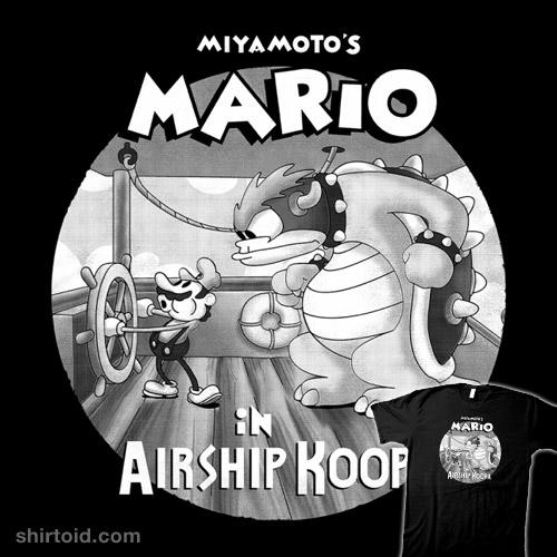 Mario in Airship Koopa
