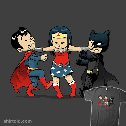 Super childish shirtoid - Superman wonder woman cartoon ...