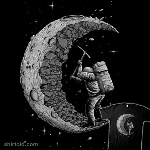 digging the moon