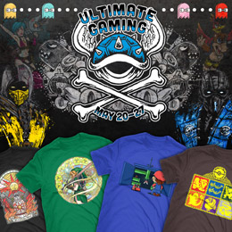 New Designs in TeeFury's Ultimate Gaming Collection only $15