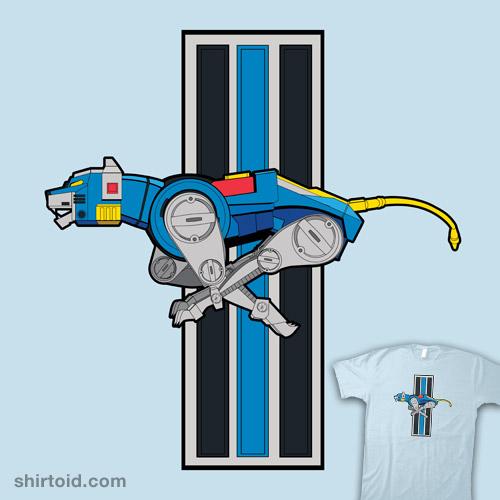 Voltron Blue Lion Running