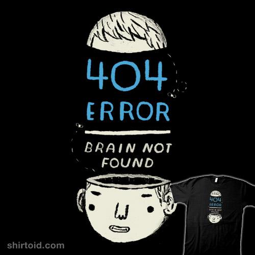 404 error: brain not found