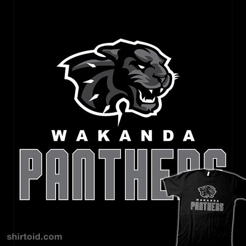 Wakanda Panthers Team Logo