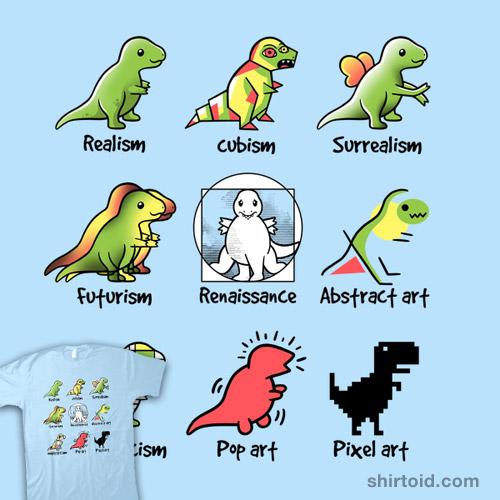 T-rex art
