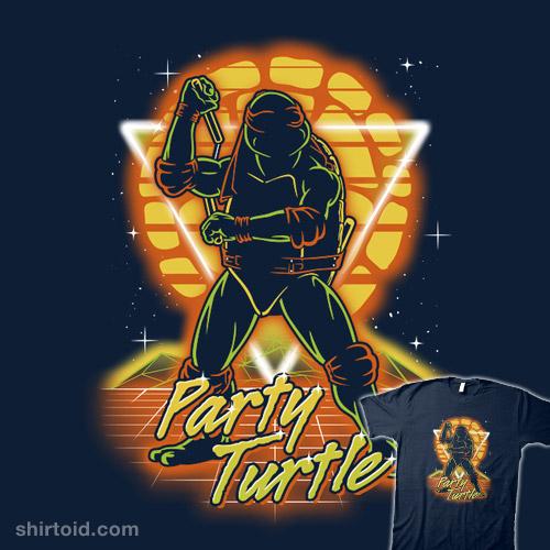Retro Party Turtle