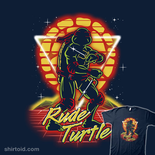 Retro Rude Turtle