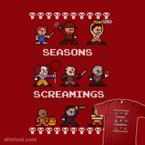 Seasons Screamings Ugly Christmas Shirt (Red Version)