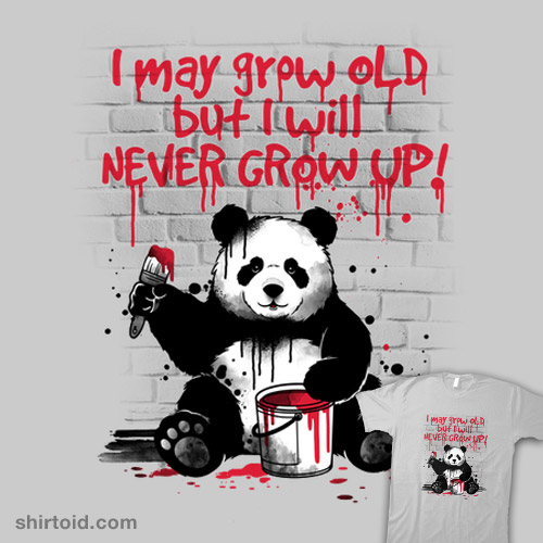 Panda never grow up
