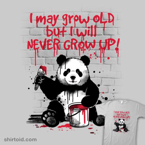 Panda never grow up