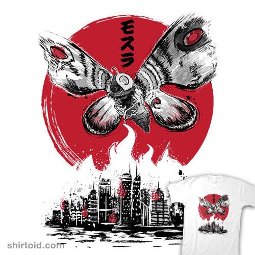 Giant Moth Attack Sumi-e