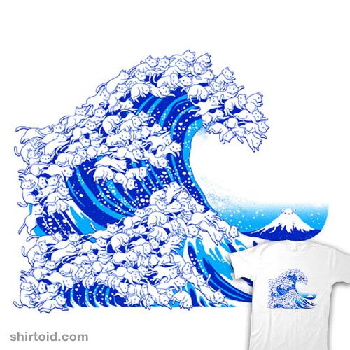 Kanagawa Cat Wave White