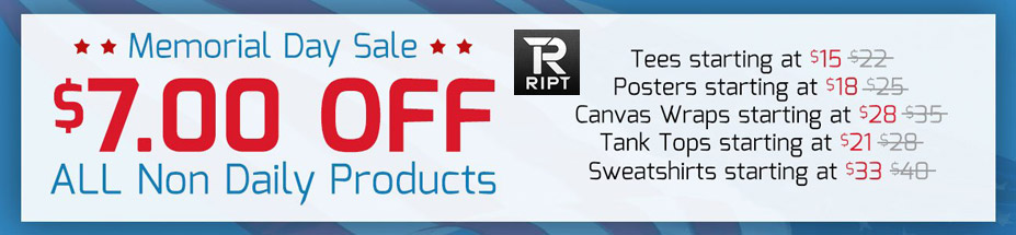 Memorial Day Sale at RIPT Apparel