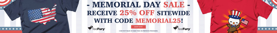 Memorial Day Sale at TeeFury