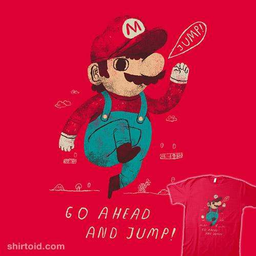 go ahead and jumpman