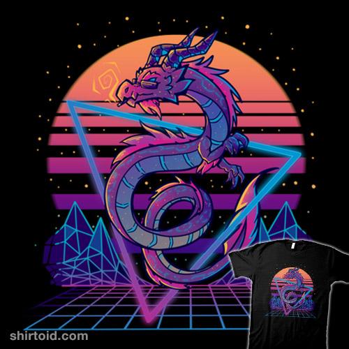 RetroWave Dragon Aesthetic